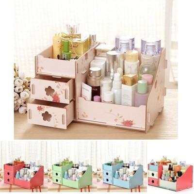 韓版DIY多功能木製收納盒 化妝品收納 辦公室桌面收納 雜物收納(大)【RS564】 (3.2折)