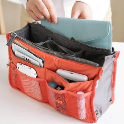 韓國雙層 化妝包 多功能 收納包 雙拉鍊 網狀收納包 防水 手提收納包 旅行 包中包【RB319】 (1.5折)