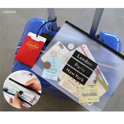 韓國 SAFEBET 出國必備透明夾鏈袋 機票護照外幣盥洗用具牙膏牙刷【RB405】 (2折)