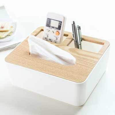 兩格款 橡木 面紙盒 衛生紙 收納盒【RS618】