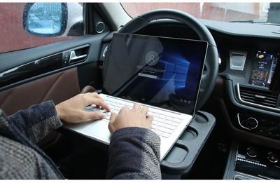 多功能方向盤辦公桌 卡桌 筆記型電腦架 餐桌 寫字板 筆電桌 置物架 餐盤 置物台 車用電腦桌 平板 (4.2折)
