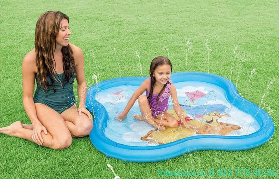 intex 58433 維尼熊戲水池 泳池 寶寶 噴水池 140x140x10cm