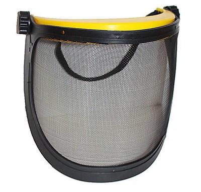 (可自行搭安全帽 單黑網面罩) 專業除草機割草機專用防護面罩PC透明面罩.割草面罩