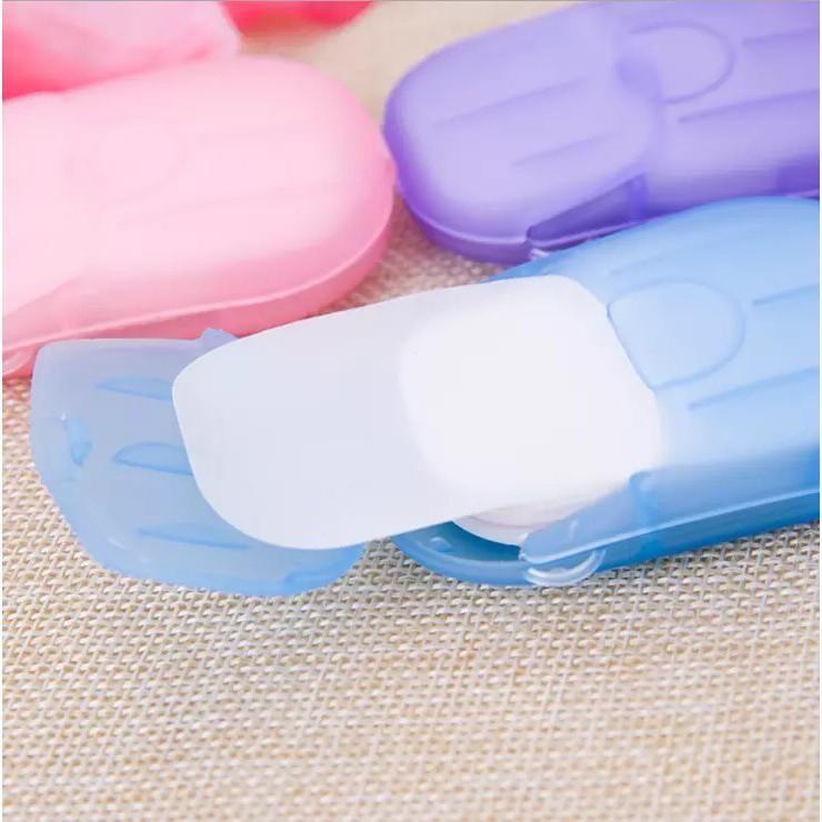 隨身攜帶 香皂 肥皂 香皂 肥皂紙 洗手皂片 20片/盒 旅行組
