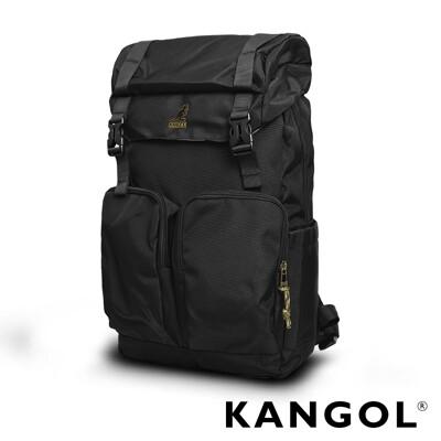 KANGOL 英式時尚大容量登山筆電機能後背包-黑色 KG51158 (7折)