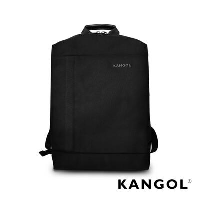 KANGOL 韓國IT男爵系列-防盜簡約設計款後背包-混織黑 KG1155 (4.2折)