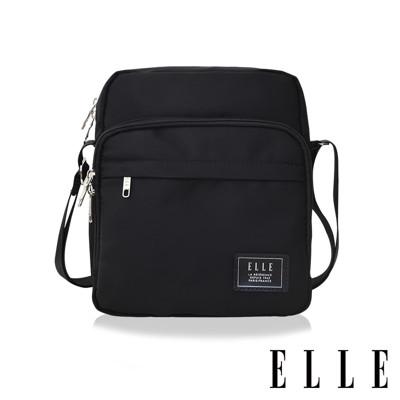 ELLE 爵士輕旅系列-輕量多隔層休閒直式斜背/側背包-黑色EL83503 (5.6折)