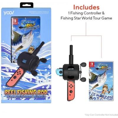 【現貨秒出】Nintendo Switch 釣魚明星 世界巡迴賽釣竿同捆組 中文版 (9.7折)
