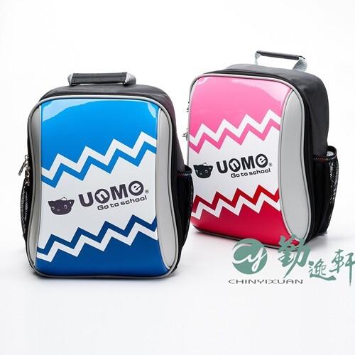 新品unme輕巧單層鋸齒造型後背書包天空藍/粉紅