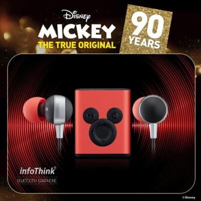infoThink 米奇系列 90周年紀念款 藍牙耳機 背面夾式設計 (9.6折)
