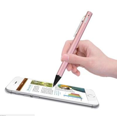 【主動式觸控筆】 繪圖書寫充電式 超細金屬銅頭觸控筆 繪畫 極細電容觸控筆 附USB充電線 (6折)