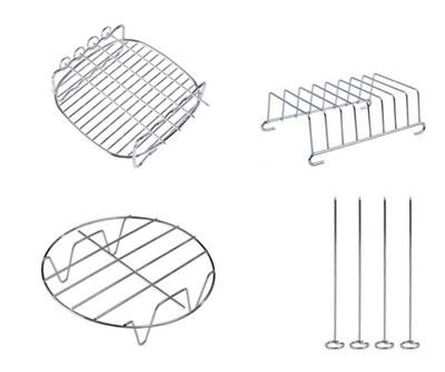 空氣炸鍋配件 烤架 蒸架 吐司架 麵包架 三件套 品夏 比依 安晴 科帥 (6折)