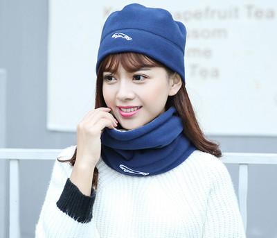 Tuban雙色拼接搖粒絨保暖圍脖頭套 抓絨保暖面罩 (3.3折)