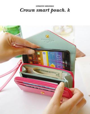 [Crown]韓版 皇冠手機皮夾 手機包(多色可選) (4.4折)
