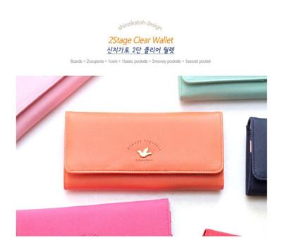 韓版 小鳥長皮夾 手機包(多色可選) (5.4折)