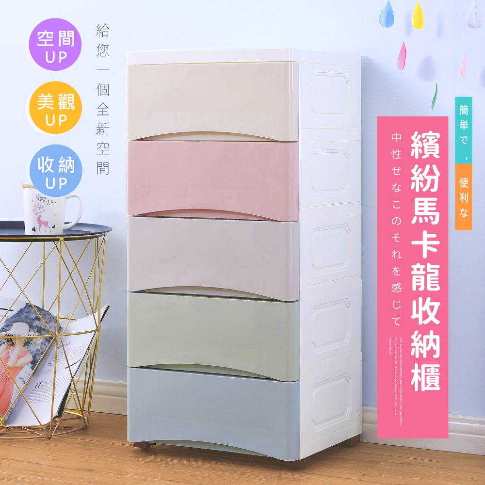 【PERFECT】馬卡龍玩具衣物五層收納櫃/衣櫃/置物櫃/層櫃