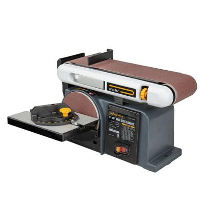 美國POWERTEC 桌上型圓盤砂帶機  BD4600 角度研磨/去鏽/去毛邊/木料/拋光/免運費 (9.6折)