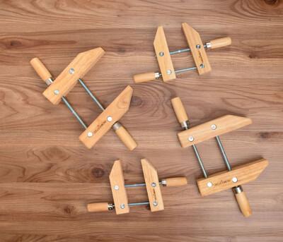 美國POWERTEC 6吋 木製木工夾 木作工具/手工具/夾具 (9折)
