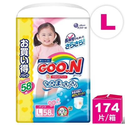 日本大王 阿福狗境內增量版 紙尿褲 ( L-58 女生褲型) (6.5折)