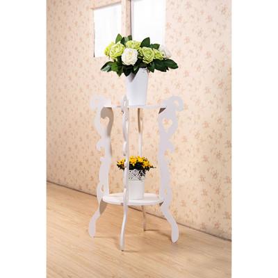 【Osun】DIY木塑板 白色雕花圓形花架(CE178-HJ001) (3.8折)