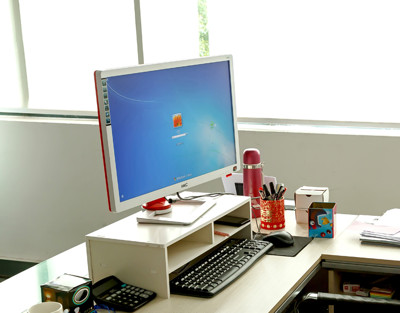 【Osun】DIY木塑板白色經典款電腦墊高桌(CE178-JP54D02) (4.7折)