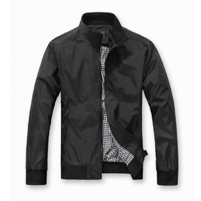 J0286DB深藍色/BK黑色休閒百搭立領薄款風衣外套 (3折)