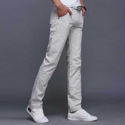 L03378K卡其色/GW淺灰色/HG軍綠色韓版休閒純棉直筒長褲 (2.4折)
