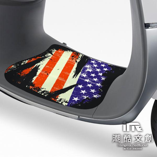 潮酷文創gogoro腳踏墊貼 創意保護貼 腳踏板 踏板貼 / gr011-美式龐克