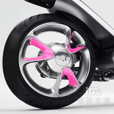 《潮酷文創》GOGORO幻彩輪框-圓型 輪圈貼 輪框變色貼 車膜 / GV012螢光粉紅 (7.5折)