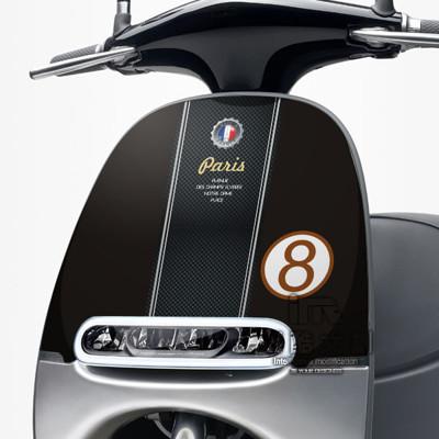 《潮酷文創》GOGORO面板貼 創意保護貼 獨特車貼 車膜 / GR048-紳士 (7折)