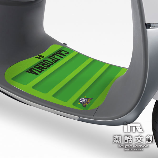 潮酷文創gogoro腳踏墊貼 創意保護貼 腳踏板 踏板貼 / gr034-運動風-翠綠