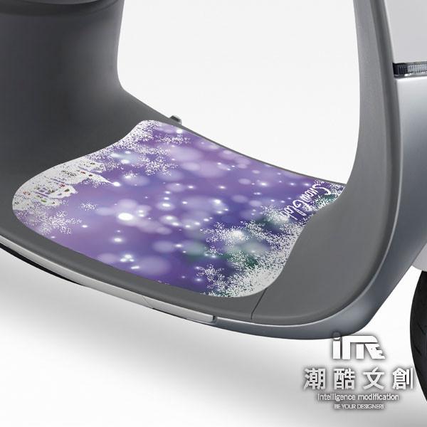 潮酷文創gogoro腳踏墊貼 創意保護貼 腳踏板 踏板貼 /   gr073-雪花水晶球