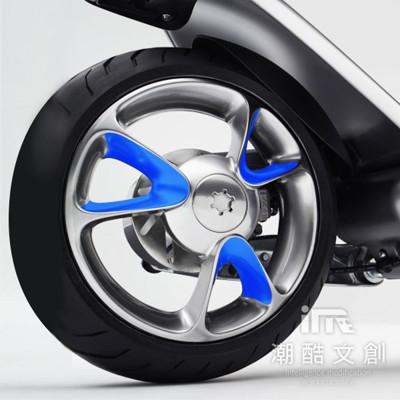 《潮酷文創》GOGORO幻彩輪框-V型 輪圈貼 輪框變色貼 車膜 / GV005寶藍 (7.5折)