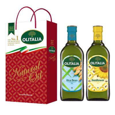 【Olitalia奧利塔】玄米油+葵花油禮盒組(1000ml各1) (8.6折)