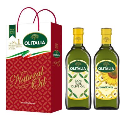 【Olitalia奧利塔】純橄欖油+葵花油禮盒組(500ml各1) (8.4折)