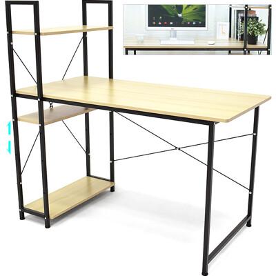 120X60雙向側櫃書桌 (側架書桌電腦桌.工作桌辦公桌.四層置物架.側櫃書桌) D145-H001 (6.2折)