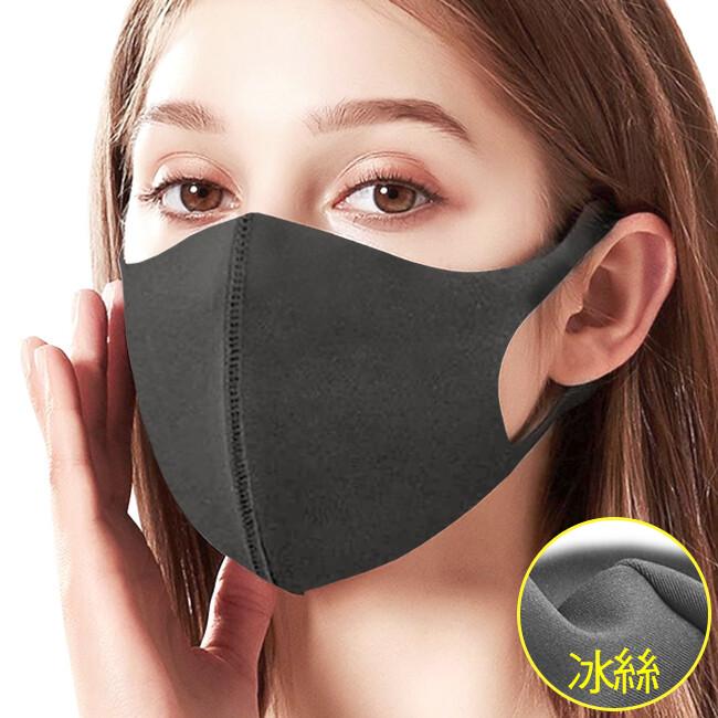可水洗3d立體口罩 (涼感冰絲口罩/防曬口罩/彈力防塵口罩/騎車防風口罩面罩)e012-19