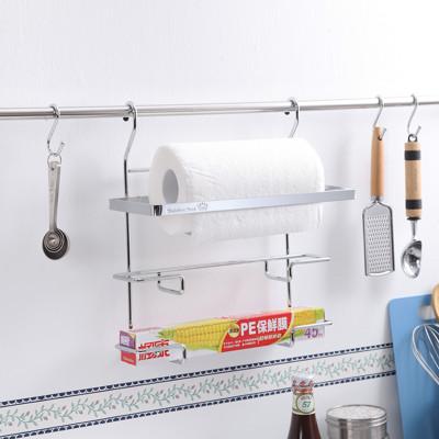 KingJET 304不鏽鋼三用紙巾架/廚房紙巾架/保鮮膜/鋁箔紙 MIT (7.8折)