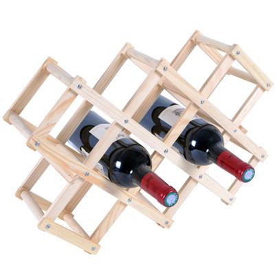 WASHAMl-原木簡易紅酒架 (7.1折)
