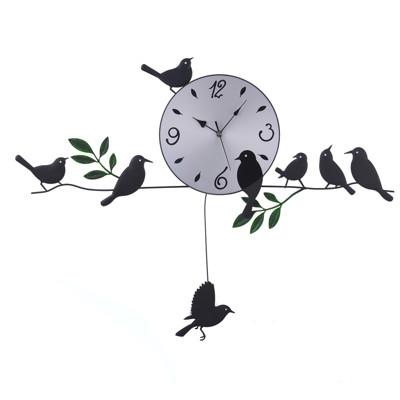 WASHAMl-造型掛鐘(田園小鳥) (8.3折)