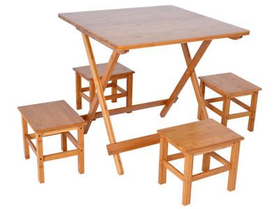 WASHAMl-楠竹折疊桌1桌4椅ZZZ-92(L號) (7.9折)
