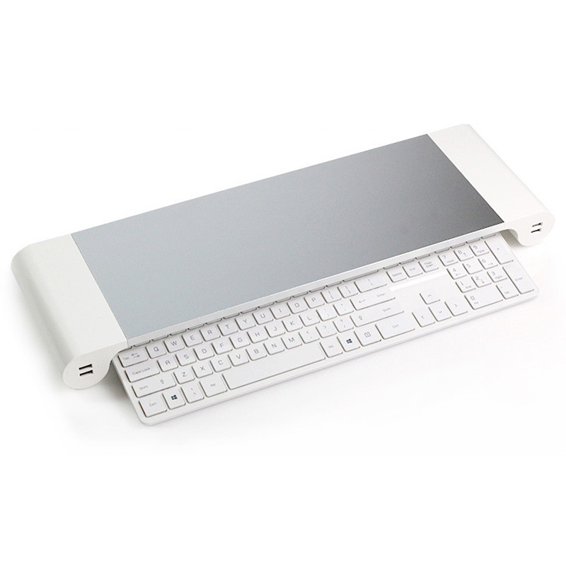 充電4孔usb電腦增高架 螢幕收納架