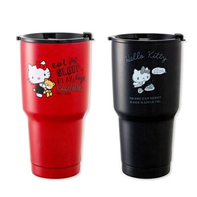 Hello Kitty 陶瓷不鏽鋼保冰杯 真空保溫杯 冰霸杯900ML正版 (6.2折)