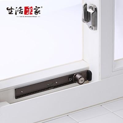【生活采家】GUARD系列可調整式鋁窗鎖(附鑰匙) 棕色#34019 (4.5折)