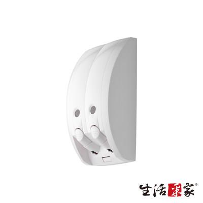 【生活采家】幸福手感純白典雅350ml雙孔手壓式給皂機#47030 (6.3折)
