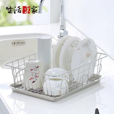 【生活采家】台灣製304不鏽鋼廚房碗盤陳列瀝水架#27245 (7.8折)