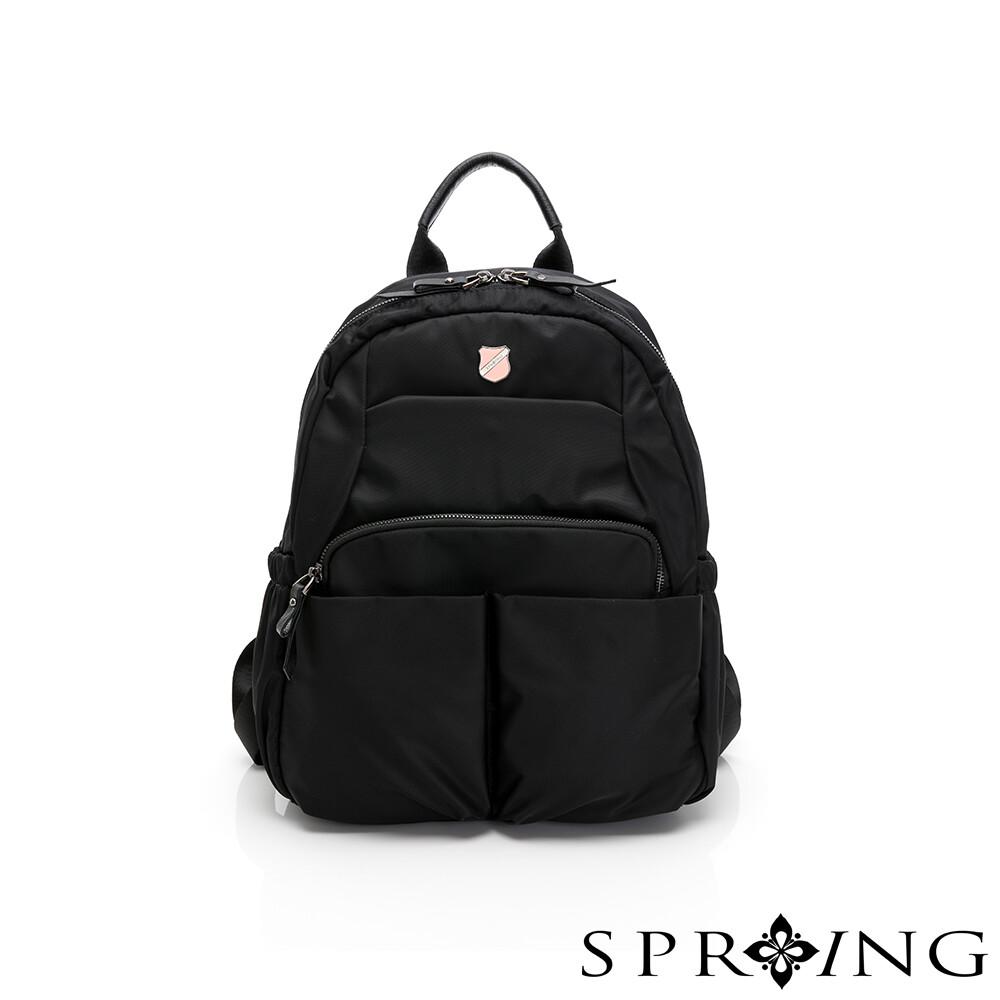 spring-未來質感系列尼龍小口袋後背包(0-55010)