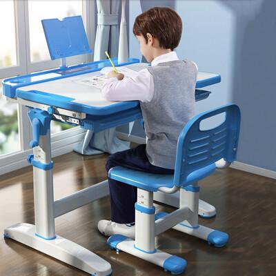 【生活誠品】 兒童書桌椅組 學習桌 成長書桌  兩色可選 手搖升降升級款(桌+椅+LED檯燈) (6.6折)