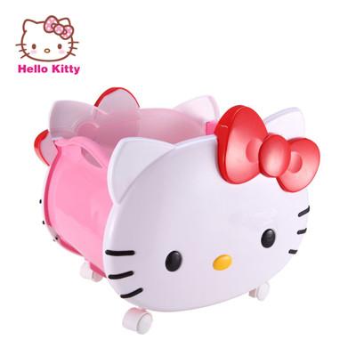 【成長天地】Hello Kitty 造型玩具收納籃 附輪及把手設計 方便推拉 (6.6折)