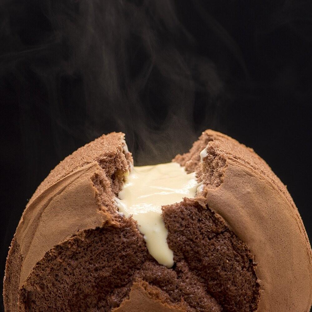 樂樂甜點樂樂爆漿布丁蛋糕(6吋/盒)巧克力